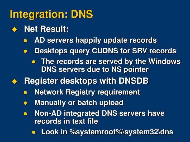 Integration: DNS