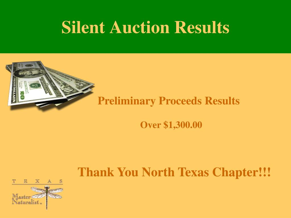 Silent Auction Results