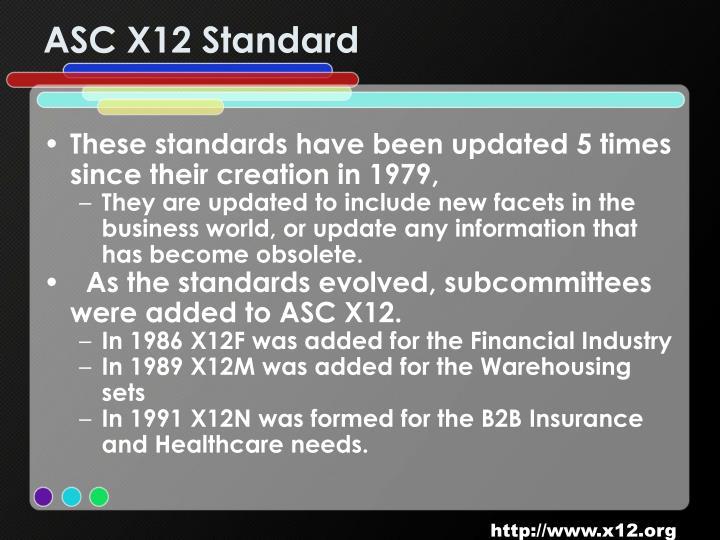 ASC X12 Standard