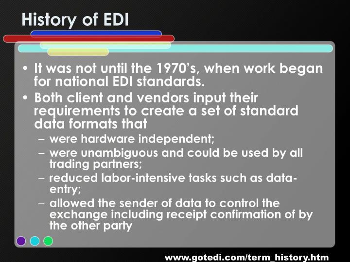 History of EDI