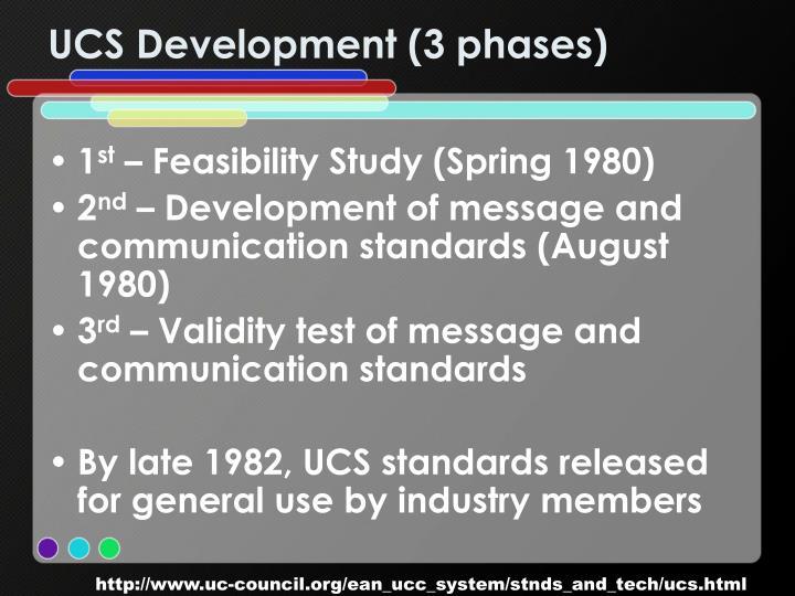 UCS Development (3 phases)