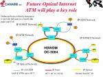 future optical internet atm will play a key role