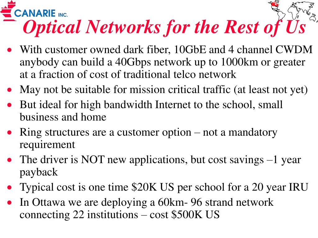 Optical Networks for the Rest of Us