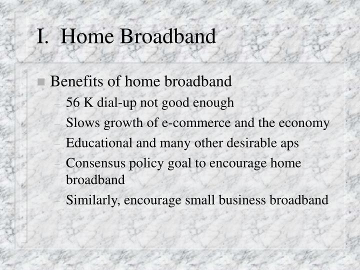 I home broadband