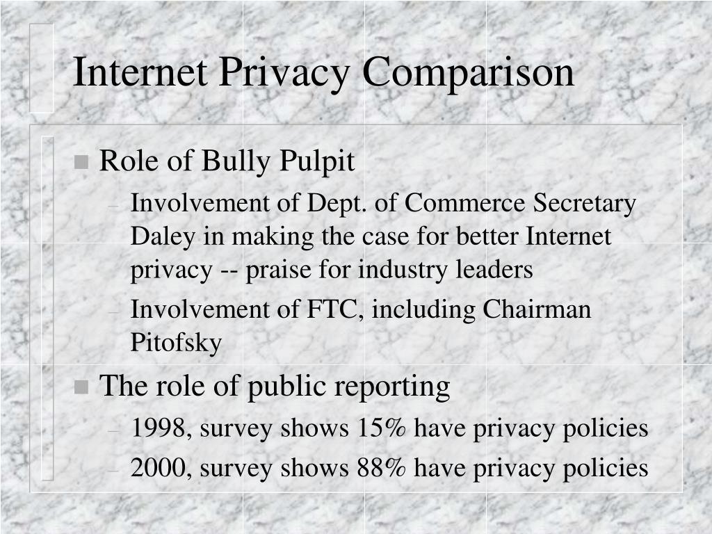 Internet Privacy Comparison