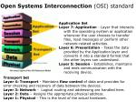 open systems interconnection osi standard