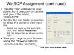 winscp assignment continued