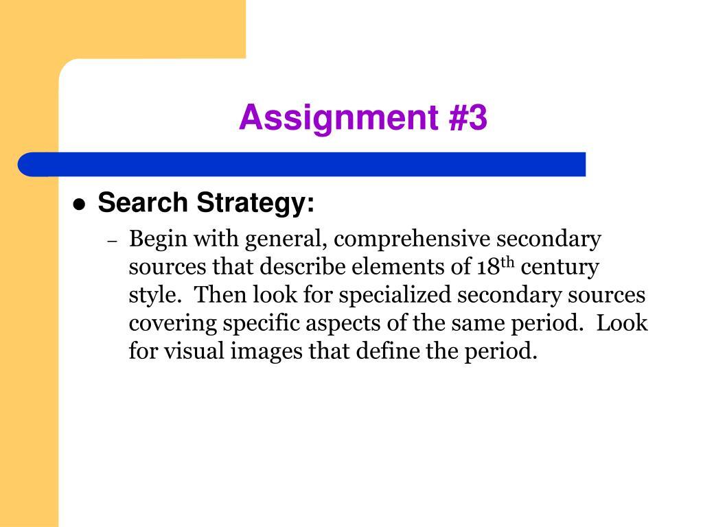 Assignment #3