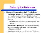 subscription databases61