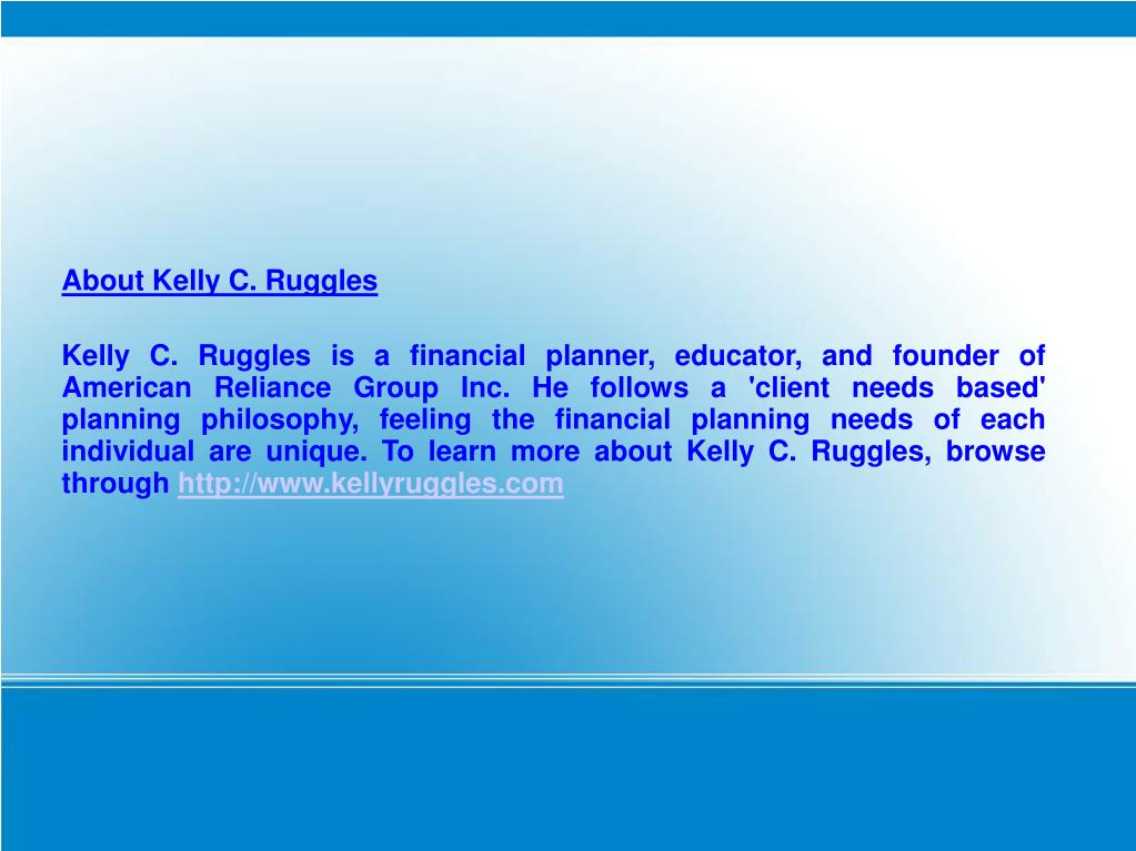 About Kelly C. Ruggles