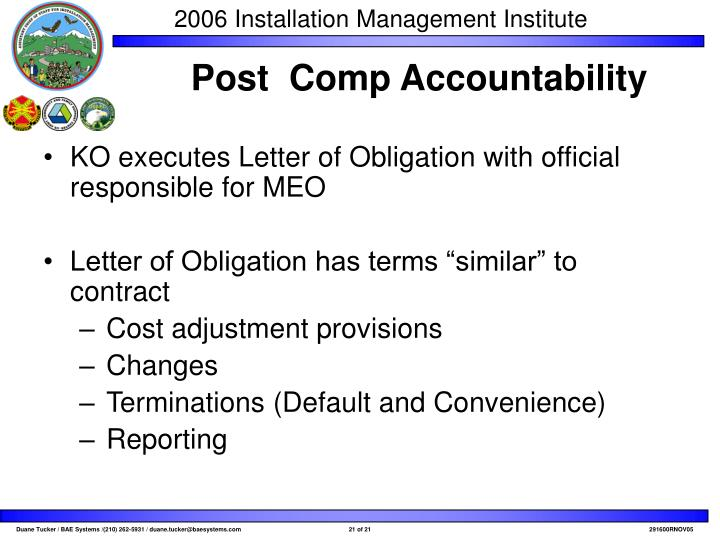 KO executes Letter of Obligation with official responsible for MEO