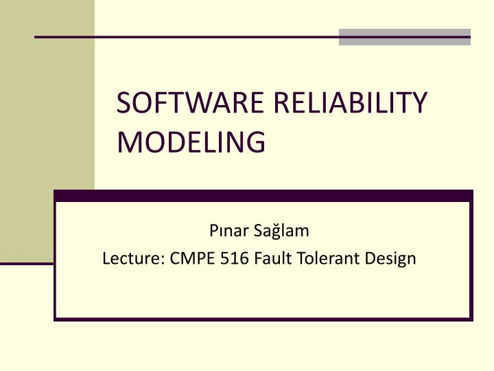 software reliability modeling n.