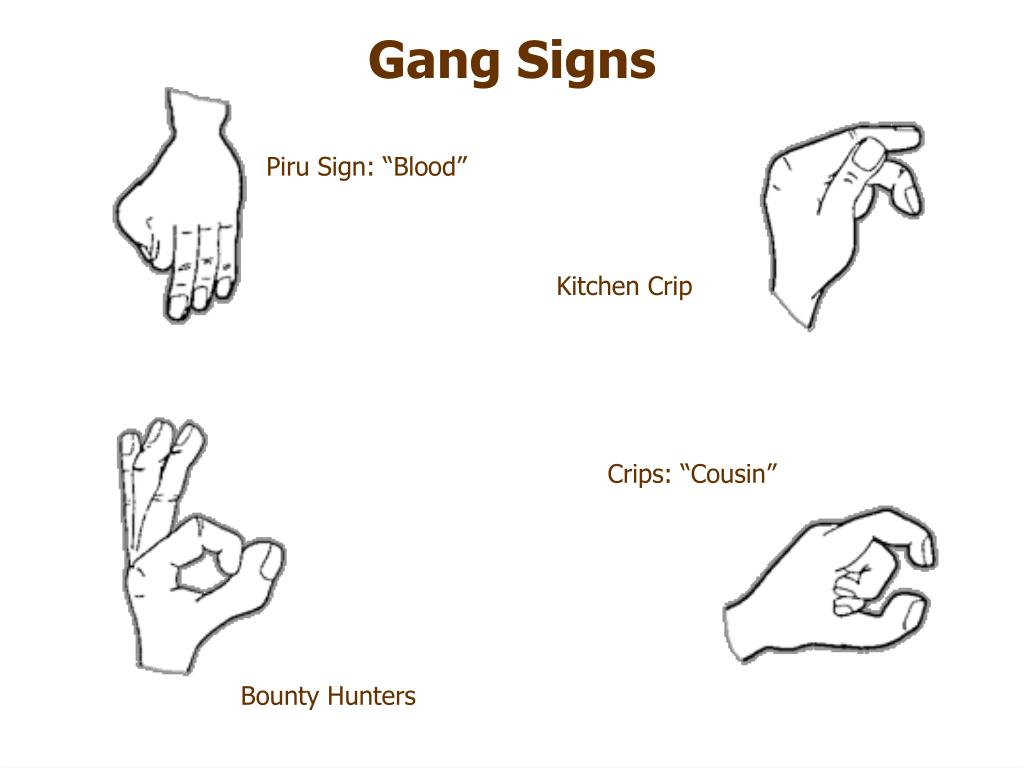 Blood And Crips Gang Signs