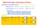multi level logic conversion of forms