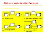 multi level logic more than two levels