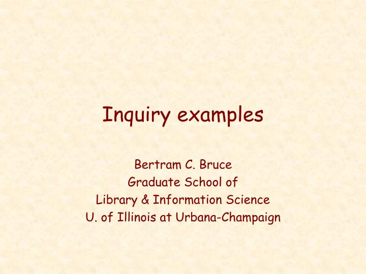 inquiry examples n.