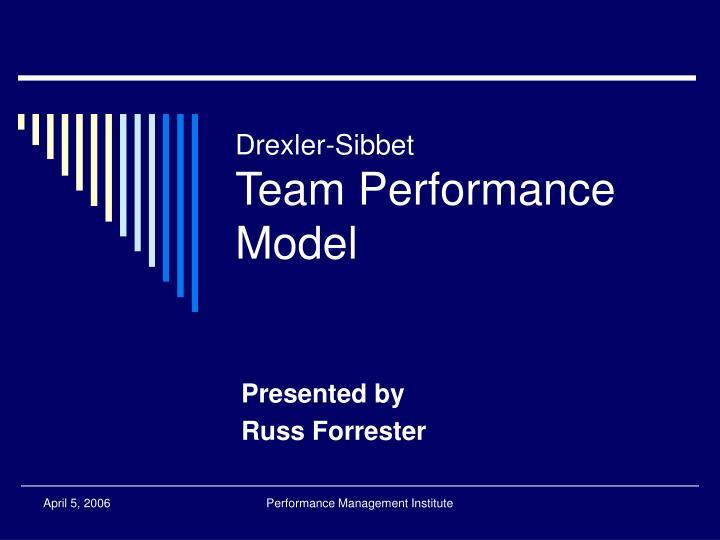 drexler sibbet team performance model n.