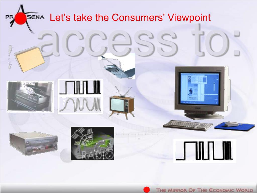 Let's take the Consumers' Viewpoint