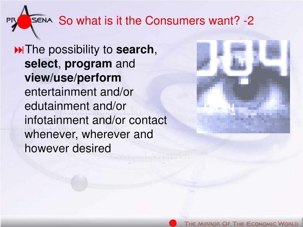 So what is it the Consumers want? -2