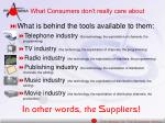 what consumers don t really care about