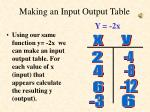 making an input output table2