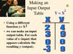 making an input output table3