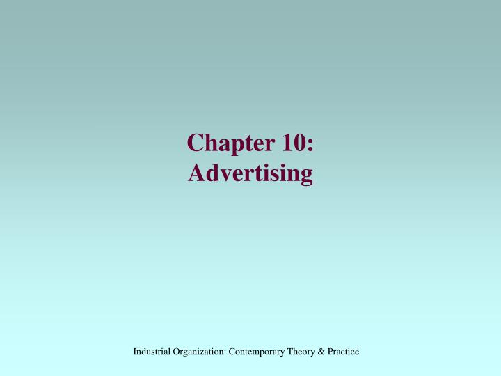 chapter 10 advertising n.