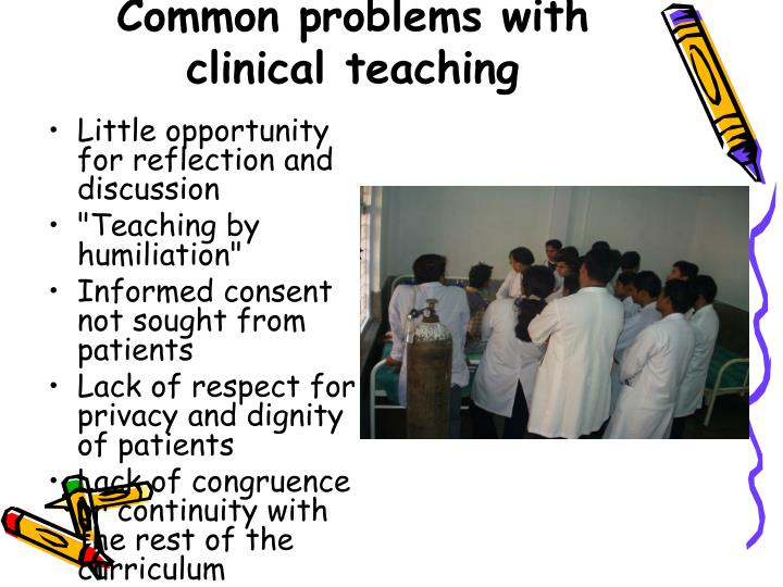 Common problems with clinical teaching