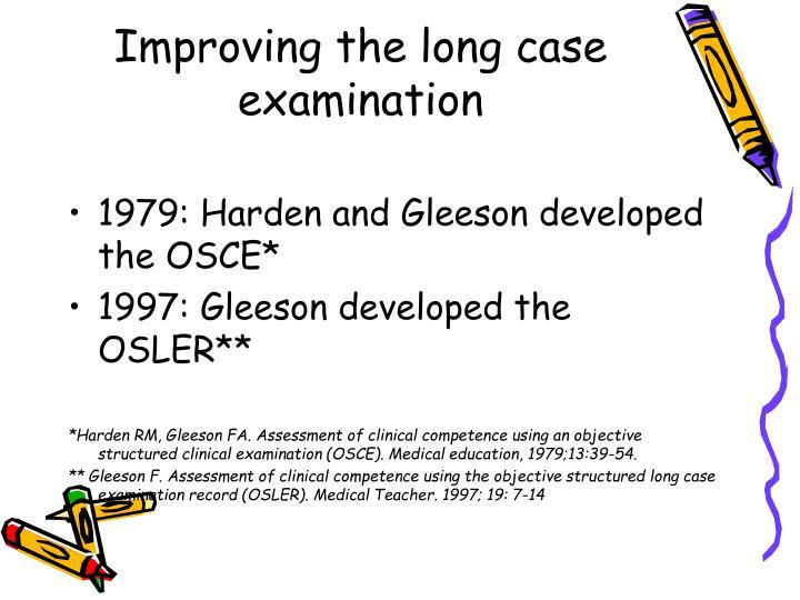 Improving the long case examination