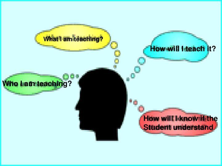 What I am teaching?