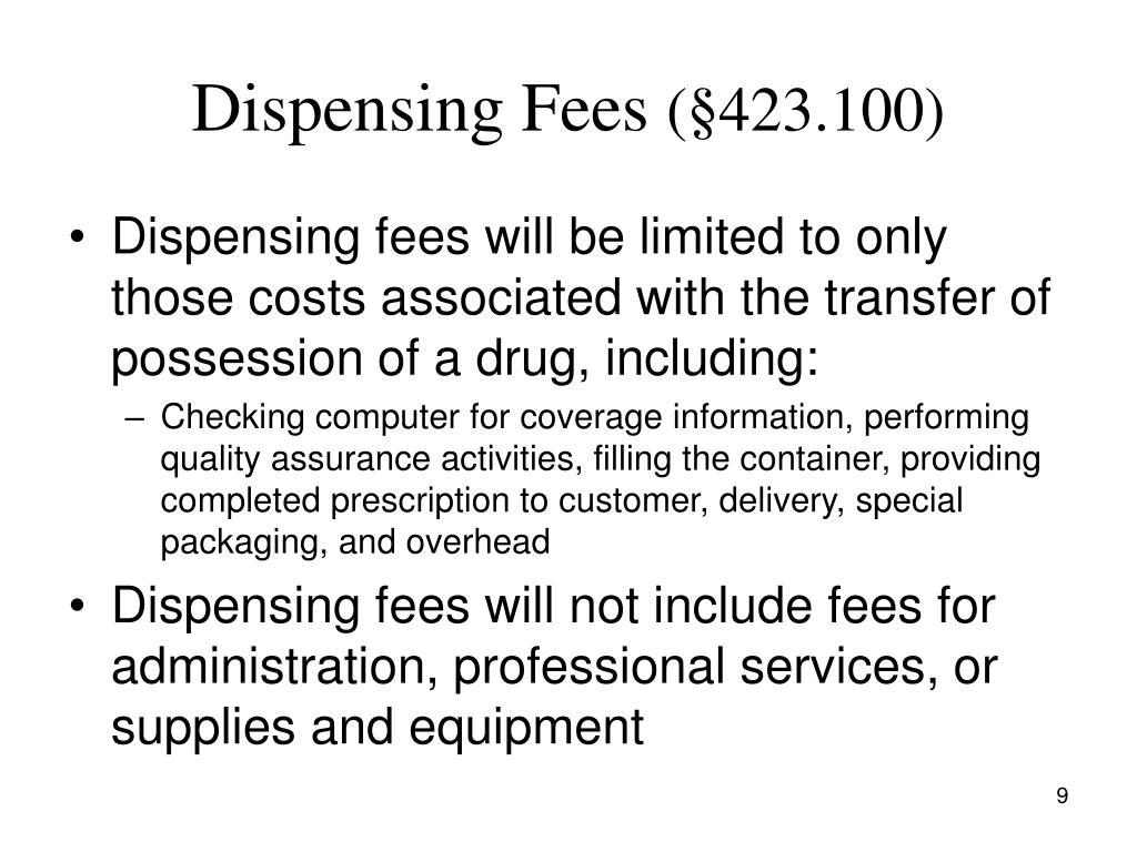 Dispensing Fees