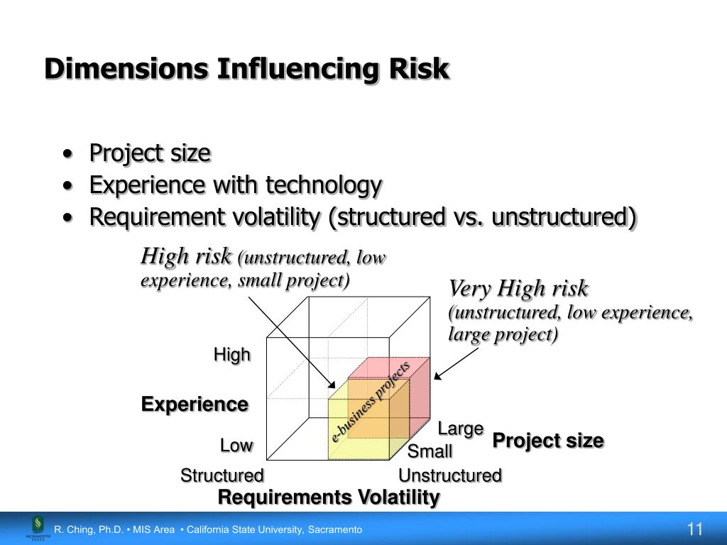 Dimensions Influencing Risk