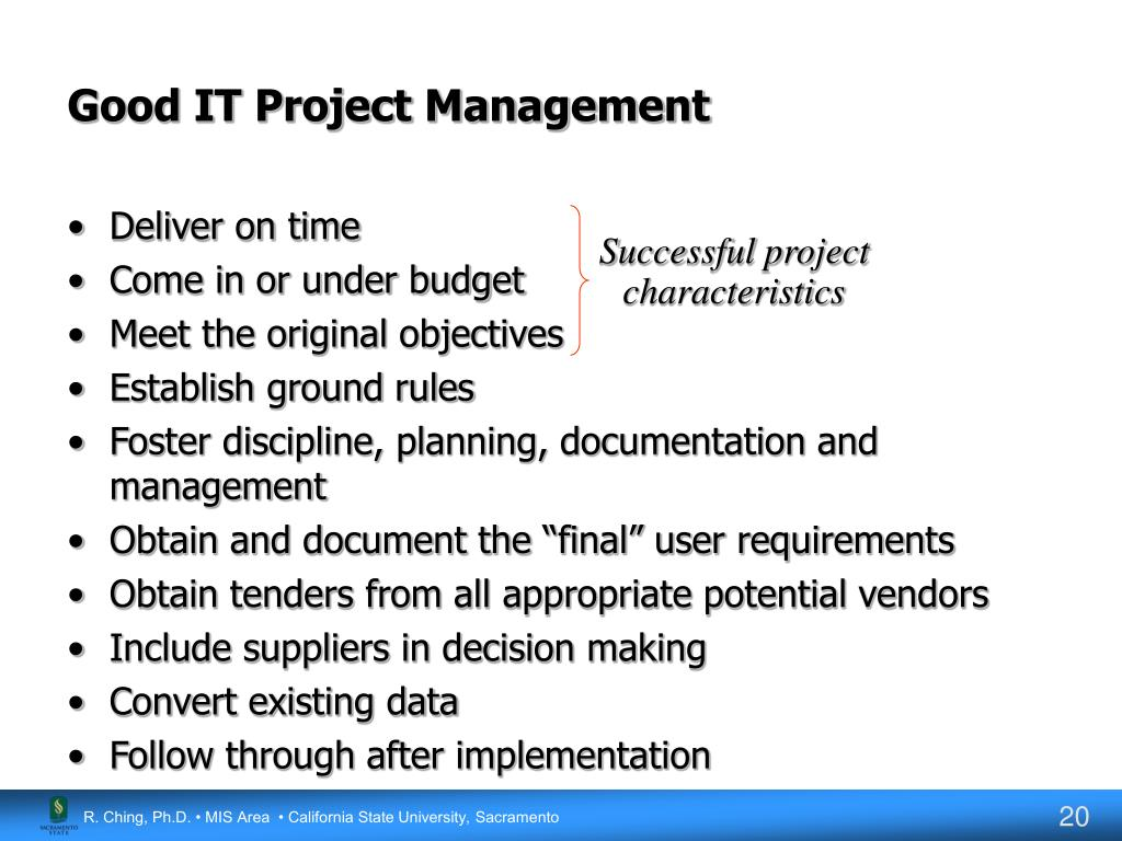 Good IT Project Management