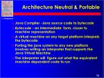 architecture neutral portable