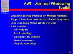 awt abstract windowing toolkit