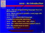 java an introduction