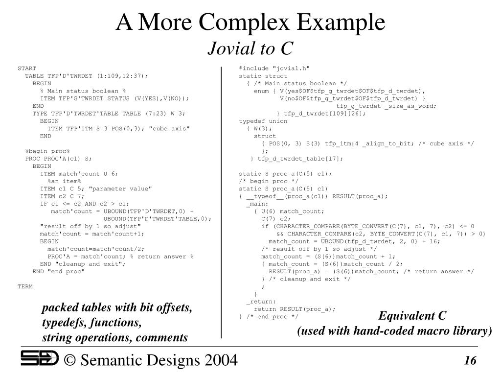 A More Complex Example