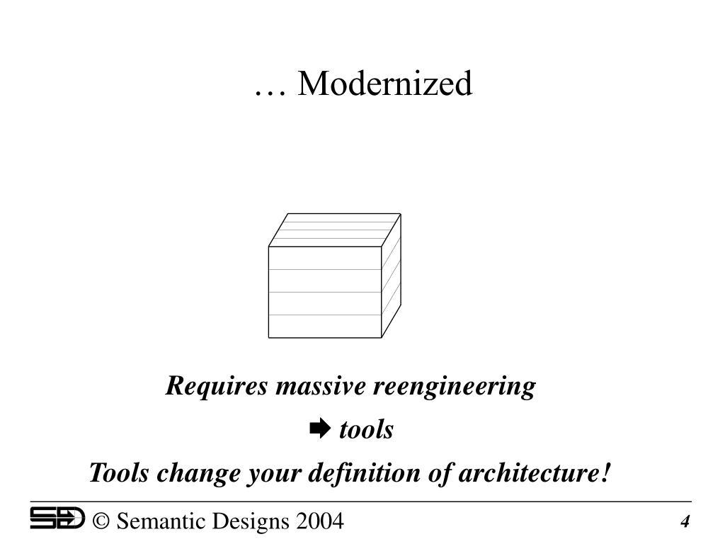 … Modernized