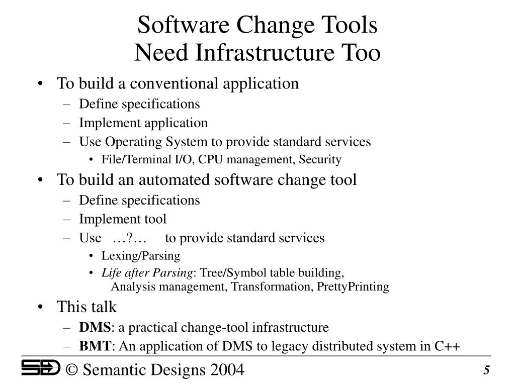 Software Change Tools