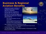 business regional aviation benefits