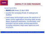 darpa s fy 04 core programs37