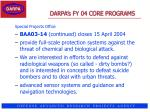darpa s fy 04 core programs38
