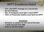 apft excellence award