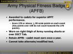 army physical fitness badge apfb