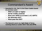commandant s award