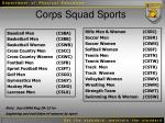 corps squad sports