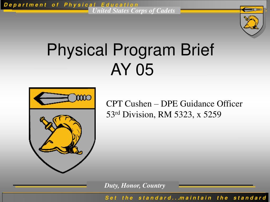 physical program brief ay 05 l.