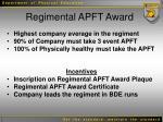 regimental apft award
