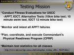 testing mission