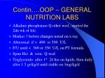 contin oop general nutrition labs